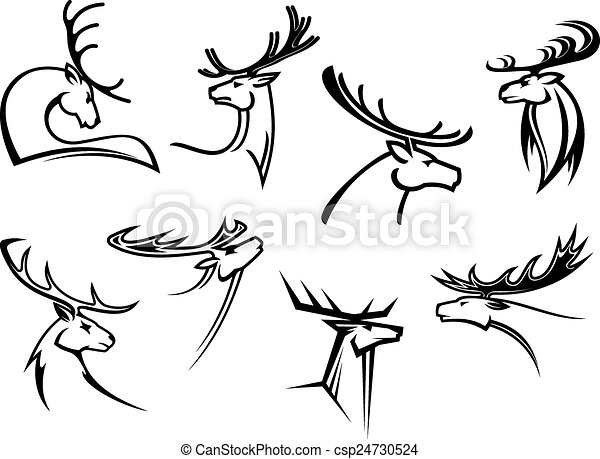 Deers With Big Antlers 16842154 moreover Black And White Deer With Antlers 1219208 in addition Proud Profile Of Deer In Outline Style 24730524 besides Antlers Of Deer 20721938 moreover Stag stencils. on large antlers clip art
