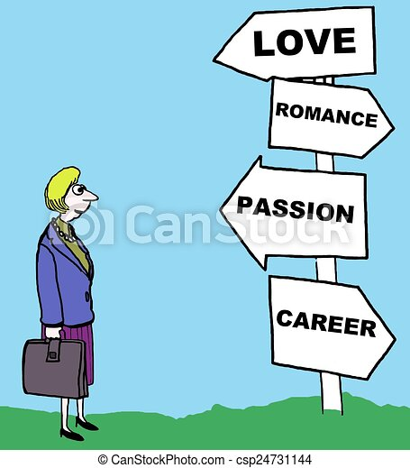 Woman with romance, career options