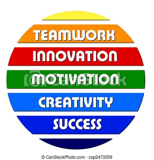 Colorful Business motivation slogans - csp2473309