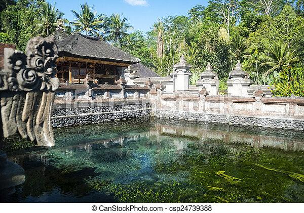 Tirta empul temple with sacred water pool, Bali, Indonesia