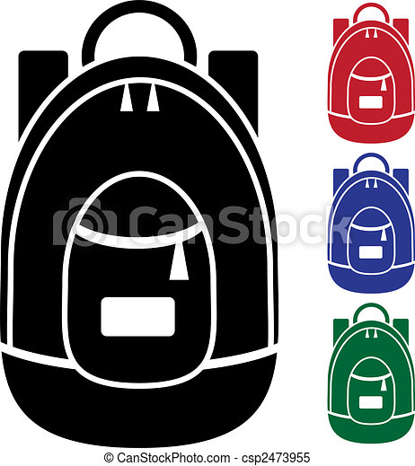 backpack icon - csp2473955