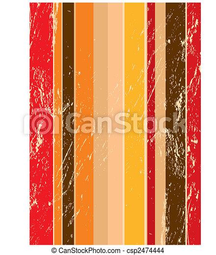 Stripe retro grunge background - csp2474444