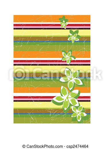 Stripe retro grunge background - csp2474464