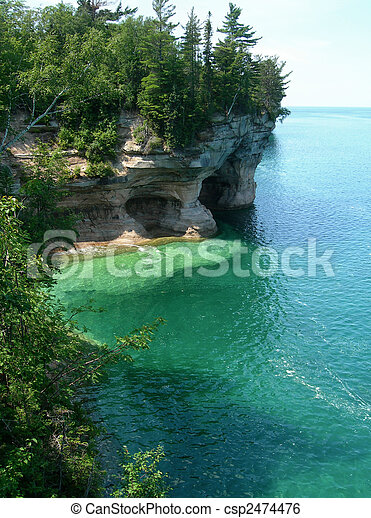 Emerald waters on Lake Superior          - csp2474476
