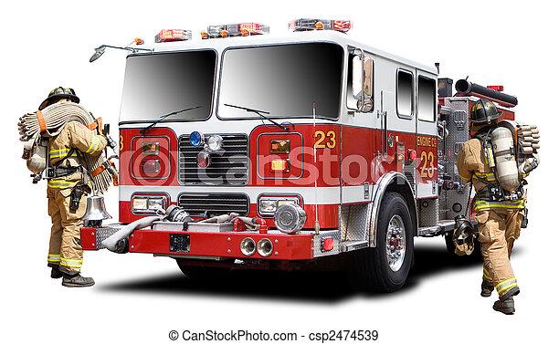 fuego, camión - csp2474539