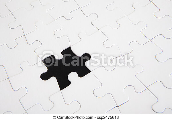 Puzzle one piece missing
