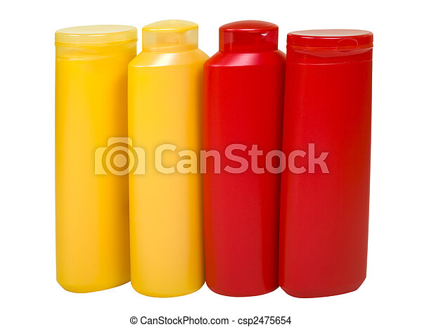 Hygienic Supplies in Colorful Bottles - csp2475654