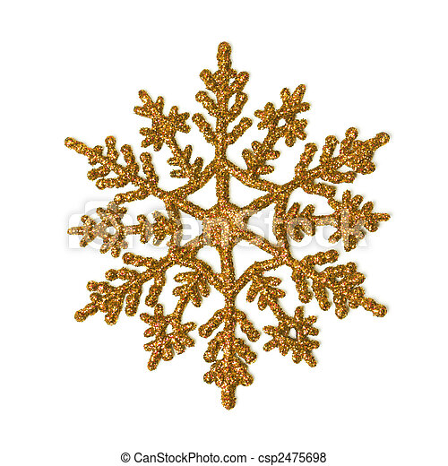 Gold glitter snowflake - csp2475698