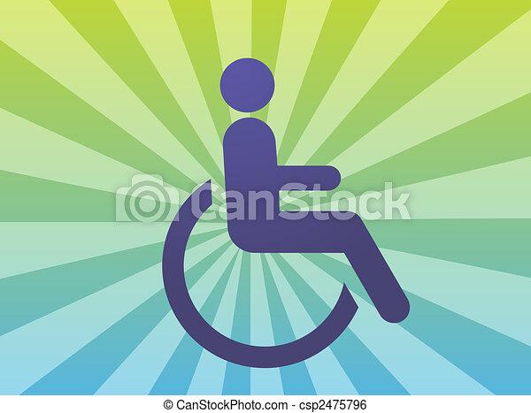 Handicap symbol - csp2475796