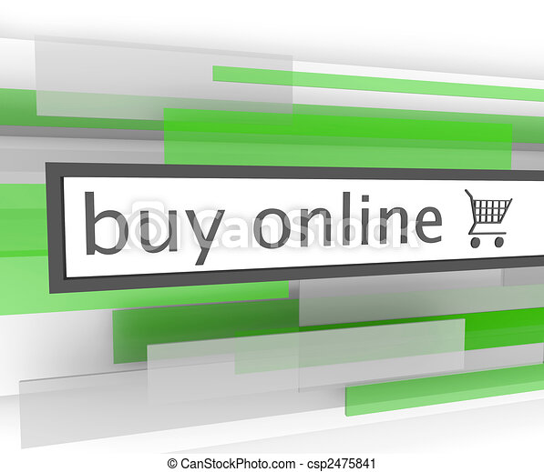 Buy Online Bar - Website Shopping Cart - csp2475841
