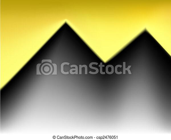 Golden cutout - csp2476051