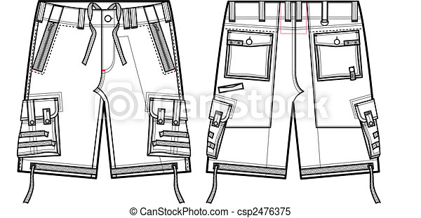 men fashion cargo shorts - csp2476375