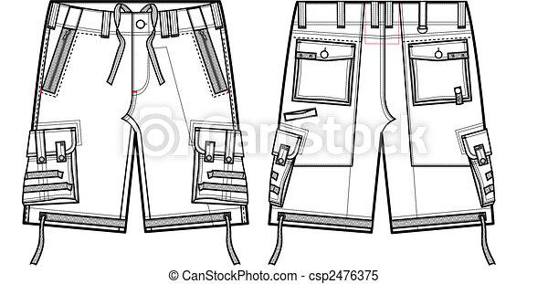 men fashion cargo shorts - csp2476375