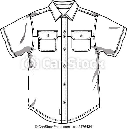 Men button down shirt - csp2476434