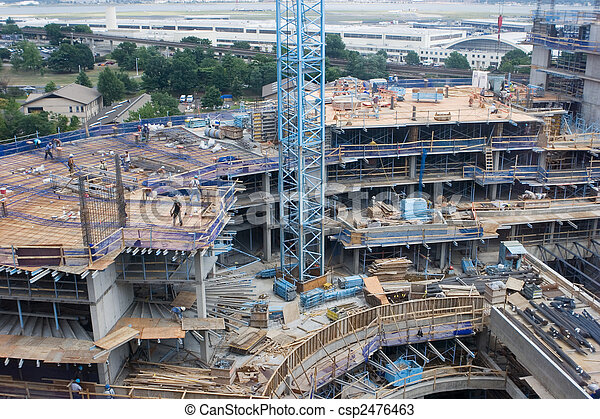konstruktion, plats - csp2476463