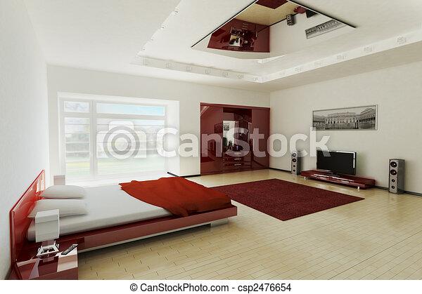 illustration intrieur chambre coucher 3d - Dessin Chambre 3d