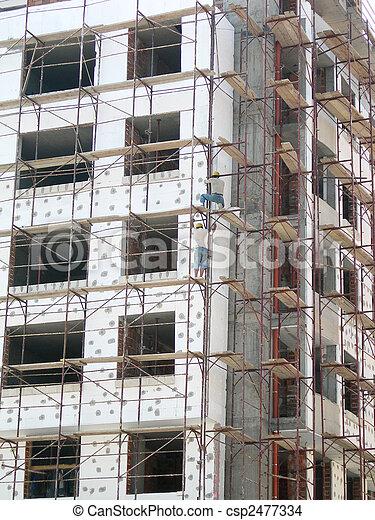 New block, scaffolding, thermo-insulation         - csp2477334