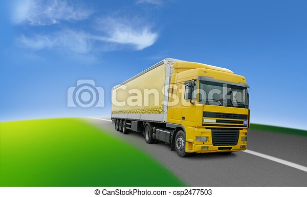 Truck - transport and logistics around the world - csp2477503