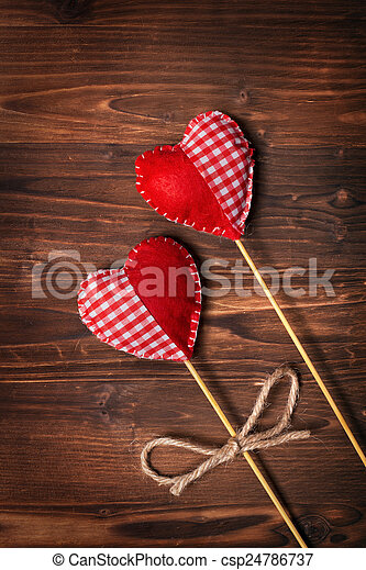 corações,  valentines, Dia - csp24786737