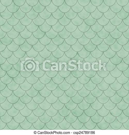 Green Shell Tiles Pattern Repeat Background Picture ...