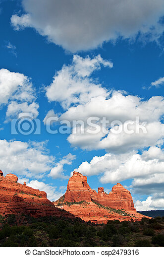 scenic red stone landscape of sedona, in arizona - csp2479316