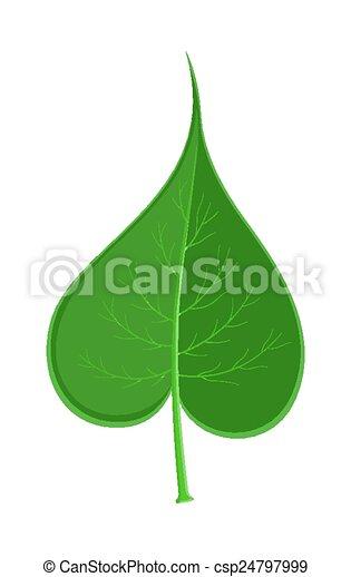 EPS Vectors of Green Leaf - Artistic Green Autumn Heart ...