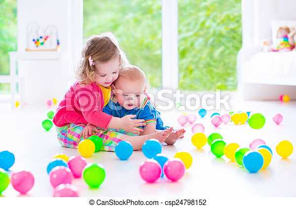 Children playing at day care