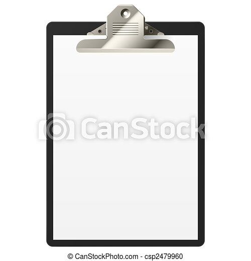 clipboard with blank paper - csp2479960