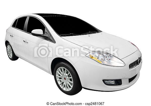 neu, weißes, Auto - csp2481067