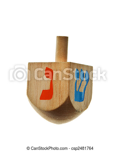 hanukkah dreidel isolated - csp2481764
