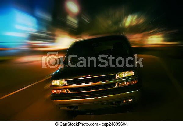 SUV in night city