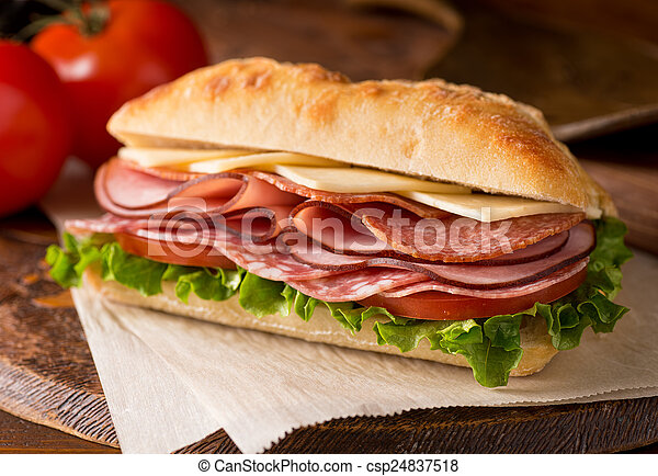 Cold Cuts Sandwich - csp24837518