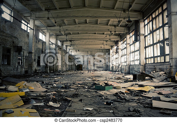 Abandoned Industrial interior - csp2483770