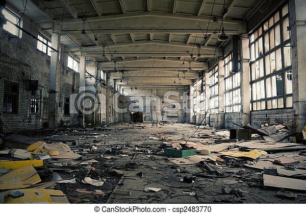 Abandoned Industrial interior - csp2483770
