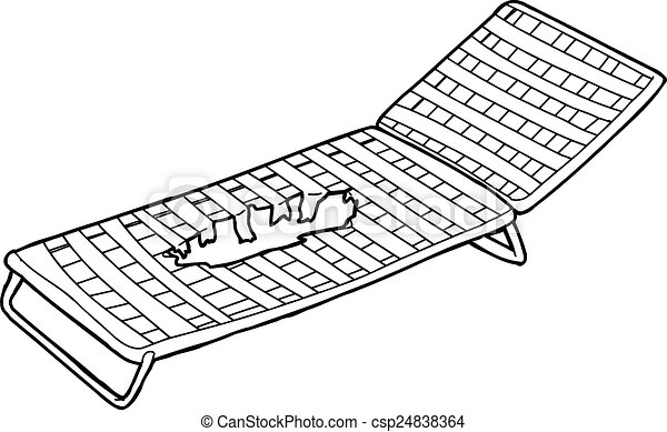 Deck Chairs Drawing Damaged Deck Chair Outline