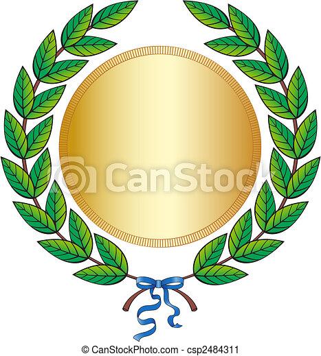 Laurel wreath - csp2484311