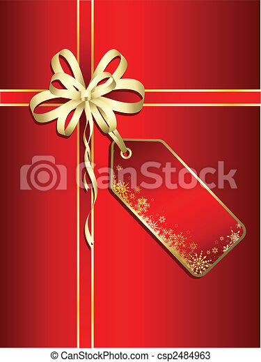 christmas gift background - csp2484963