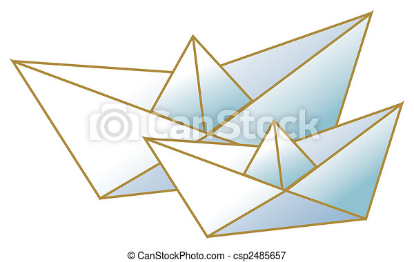 Stock Illustrations of paper boat - a nice drawing of two paper boats ...