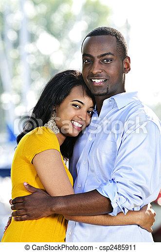 Happy couple hugging - csp2485911