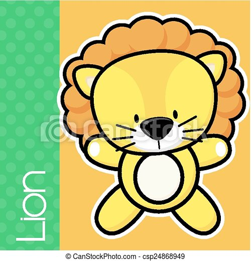 Vector Of Baby Lion Cute Little And Text In Flat Design