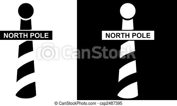 north pole icon - csp2487395