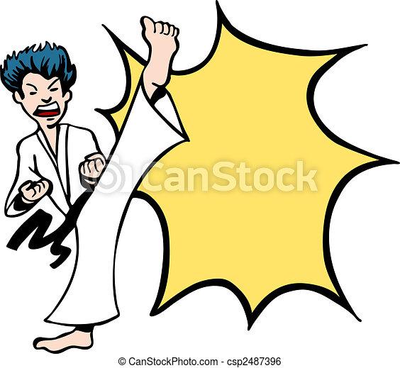 Karate Kick - csp2487396