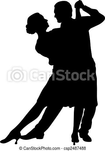 Couple dancing - csp2487488