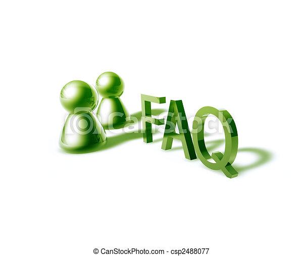 faq word graphic - csp2488077