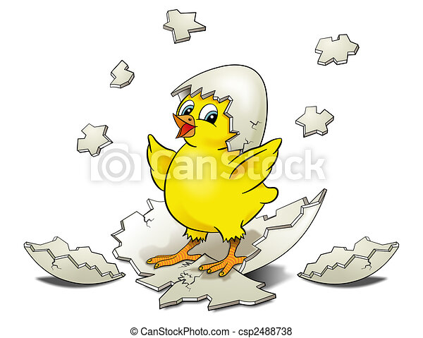 Chick Hatching Drawing