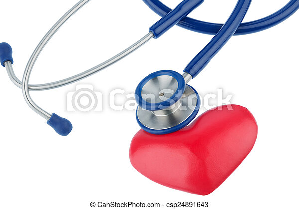 stethoscope and a heart - csp24891643