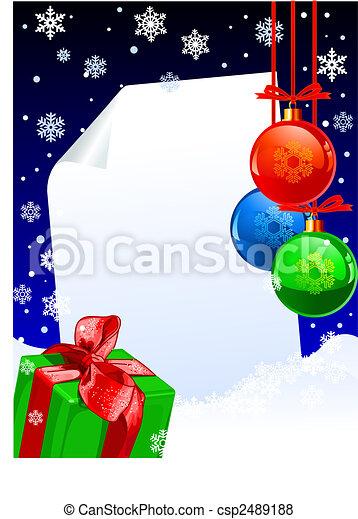 Winter decoration - csp2489188