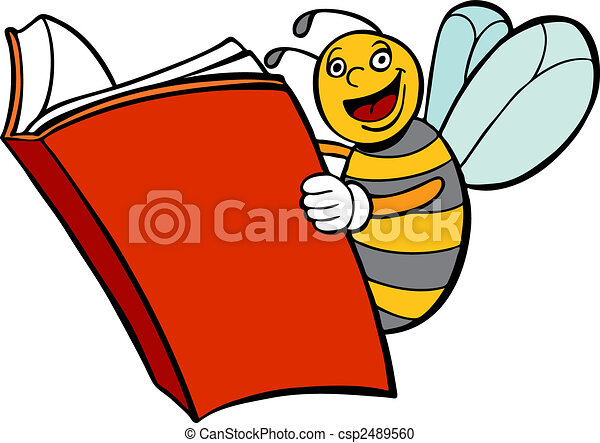 Bee Reading Book - csp2489560