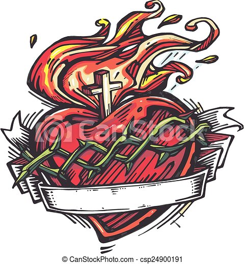 Sacred heart Stock Illustrations. 702 Sacred heart clip art images ...