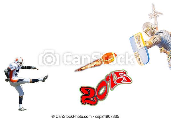 Super football player